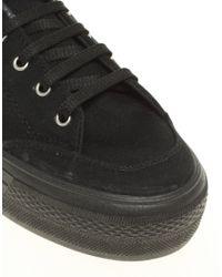 ASOS | Black Dino Flatform Sneakers | Lyst
