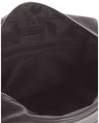 ASOS | Leather Wash Bag In Black | Lyst