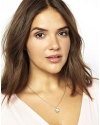 ASOS - Metallic 4 Leaf Clover Necklace - Lyst