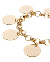 ASOS - Metallic Disc Charm Bracelet - Lyst