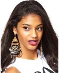 ASOS | Metallic Modern Number Chandelier Earrings | Lyst