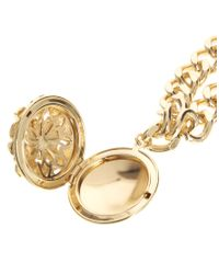 ASOS - Metallic Pearl Medallion Anklet - Lyst