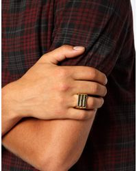 ASOS - Metallic Stacked Ring with Wtf Slogan for Men - Lyst
