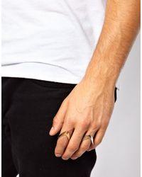ASOS - Metallic V Ring for Men - Lyst