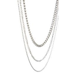 ASOS | Metallic Gathered Necklace for Men | Lyst