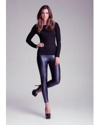 Bebe | Black Iridescent Legging | Lyst