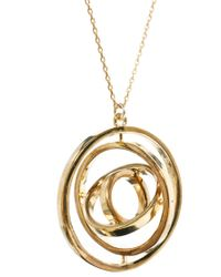 French Connection | Metallic Spinning Ring Necklace | Lyst