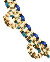 John & Pearl - Metallic Two Row Loop Necklace - Lyst
