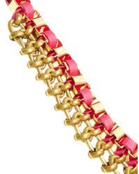John & Pearl - Pink Centre Chain Necklace - Lyst