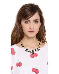 Kate Spade | Black Secret Garden Necklace Jetclear | Lyst
