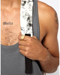 Love Bullets - Metallic Skool Ov Jenius By Lovebullets Signet Hex Ring Exclusive To Asos for Men - Lyst