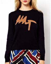 Mademoiselle Tara - Black Mt Intarsia Sweater - Lyst
