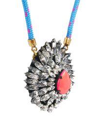 Shourouk - Blue Leitmotiv Yildiz Neon Pink Necklace - Lyst