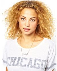 Stussy - Metallic Name Plate Necklace - Lyst