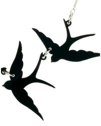 Tatty Devine | Black Swallow Triple Necklace | Lyst