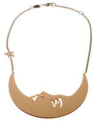 Tatty Devine - Metallic La Luna Moon Necklace - Lyst