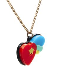 Tatty Devine - Red Psychedelic Heart Necklace - Lyst