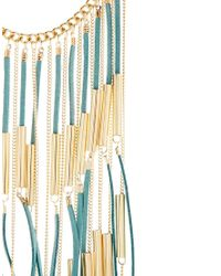 ASOS - Blue Limited Edition Fringe Necklace - Lyst