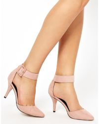 ASOS - Pink Safe and Sound Pointed Heels - Lyst