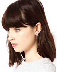 ASOS - Metallic Stone Swing Earrings - Lyst
