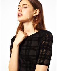 ASOS | Metallic Wear That There Sterling Silver Hoop Earrings | Lyst