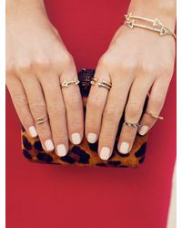 BaubleBar - Metallic Twisted Spike Midi Ring - Lyst