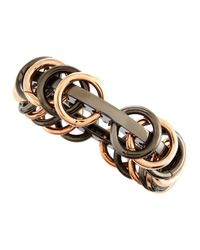 Eddie Borgo - Metallic Piercedring Mixedmetal Bracelet - Lyst