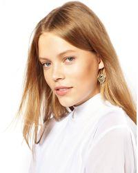 ASOS | Metallic Finchittida Finch Lotus Bud Earring | Lyst