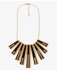 Forever 21 - Black Rhinestoned Matchstick Necklace - Lyst
