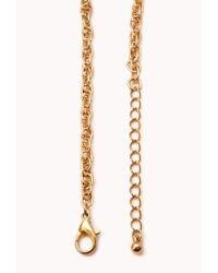Forever 21 - Metallic Elephant Frenzy Charm Necklace - Lyst