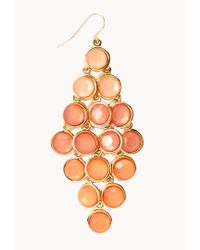 Forever 21 | Orange Standout Ombré Chandelier Earrings | Lyst