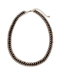 John Lewis | Black Cord Weave Box Chain Necklace | Lyst