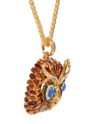 Kenneth Jay Lane - Metallic Owl Charm Necklace - Lyst