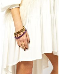 Love Bullets | Purple Lovebullets Bullet End Bracelet | Lyst