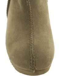 Love From Australia - Brown Zip Tall Wedge Boots - Lyst