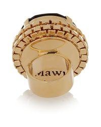 Mawi - Black Goldplated Swarovski Crystal Ring - Lyst