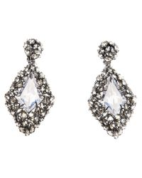 Alexis Bittar | Metallic Diamond Shape Teardrop Earring | Lyst