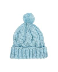 ASOS - Blue Pastel Bobble Beanie Hat - Lyst