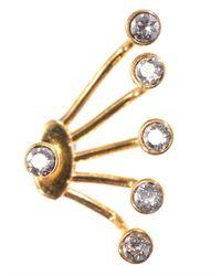Ca&Lou - Yellow Pixie Cuff Lobe Earrings - Lyst