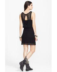 Free People | Black Elastic-waist Dress | Lyst