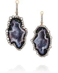 Kimberly Mcdonald - Black 18karat Rose Gold Geode and Diamond Earrings - Lyst