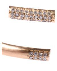 Lara Melchior - Metallic Diamond Yellow Gold Bracelet - Lyst