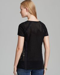 Nanette Lepore - Black Short Sleeve Knit Top Bow and Arrow - Lyst