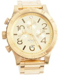 Nixon | Metallic Chronograph Watch | Lyst