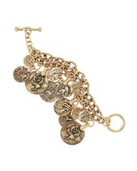 Oscar de la Renta | Metallic Goldplated Coin Bracelet | Lyst
