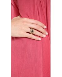 Pamela Love - Metallic Step Ring - Lyst