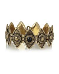 Pamela Love - Brown Eye Burnished Gold-Tone Onyx Bracelet - Lyst