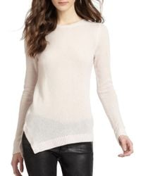 Vkoo | Natural Semisheer Cashmere Asymmetrical Sweater | Lyst