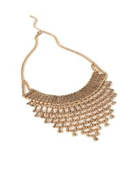 Forever 21 - Metallic Stacked Pendant Bib Necklace - Lyst