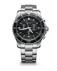 Victorinox | Metallic Victorinox Swiss Army 'maverick' Chronograph Bracelet Watch for Men | Lyst